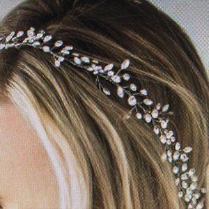 Brides & Hairpins BIANCA HALO silvertone